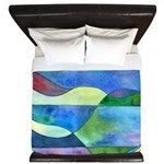 Jungle River Abstract King Duvet Cover