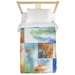 Slated Watercolor Twin Duvet Cover