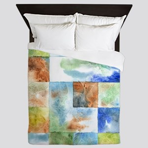Slated Watercolor Queen Duvet Cover