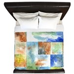 Slated Watercolor King Duvet Cover