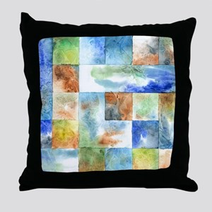 Slated Watercolor Throw Pillow