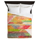 Crystal Colors Queen Duvet Cover