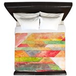 Crystal Colors King Duvet Cover