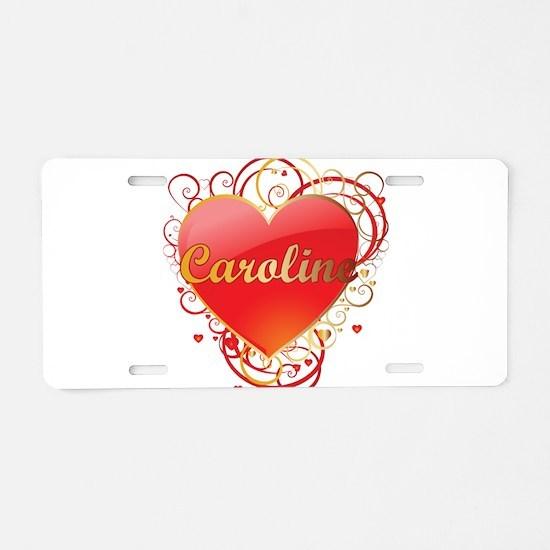 Caroline Valentines Aluminum License Plate