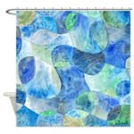 Aquatic Abstract Shower Curtain
