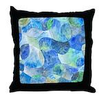 Aquatic Abstract Throw Pillow