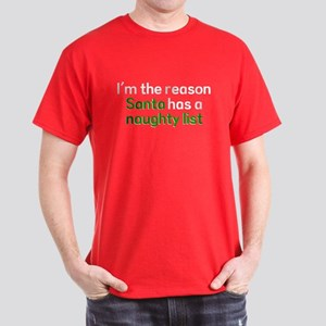 Reason Santa Naughty List Dark T-Shirt