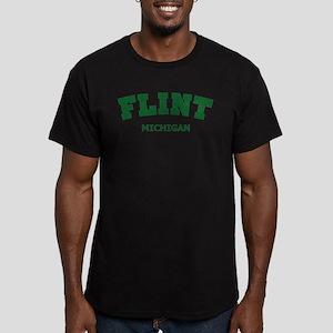 Flint Varsity Men's Fitted T-Shirt (dark)
