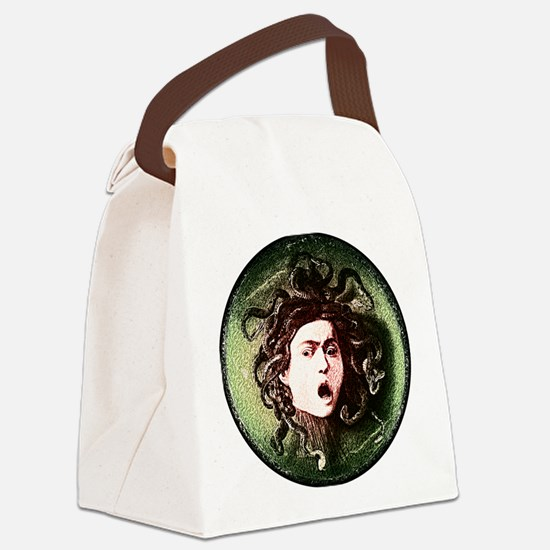 Medusa by Caravaggio on white.png Canvas Lunch Bag
