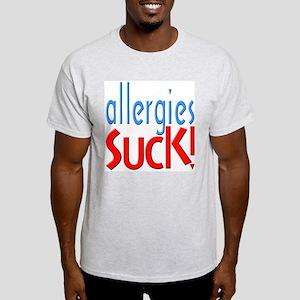 Allergies Suck Ash Grey T-Shirt