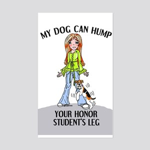 Wire Fox Terrier Honor Student Sticker (Rectangula