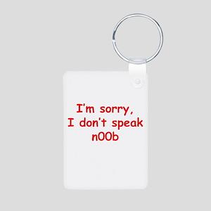 I don't speak n00b Aluminum Photo Keychain