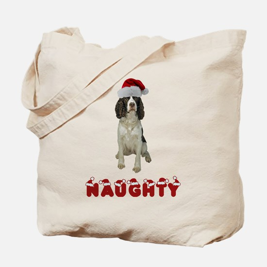 Naughty Springer Spaniel Tote Bag