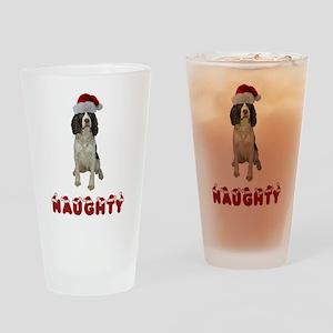 Naughty Springer Spaniel Drinking Glass