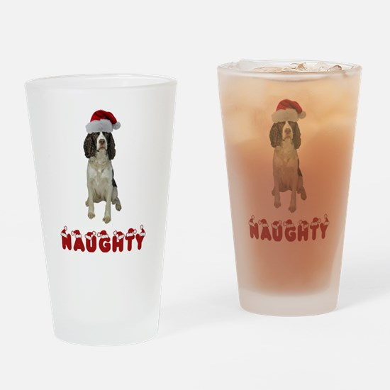 Naughty Springer Spaniel Drinking Glass