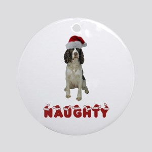 Naughty Springer Spaniel Ornament (Round)