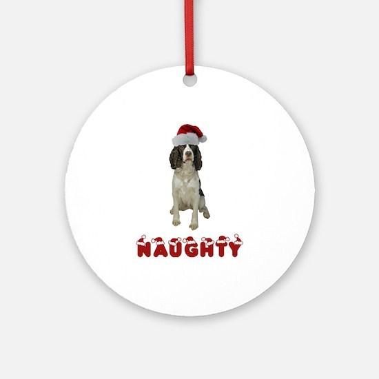 Naughty Springer Spaniel Ornament (Round)