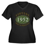 Vintage 1952 Retro Women's Plus Size V-Neck Dark T