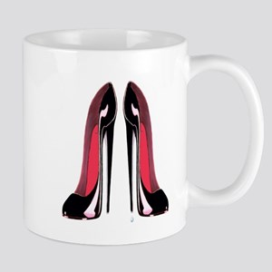 Pair Black Stiletto Shoes Mug