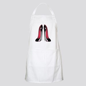 Pair Black Stiletto Shoes Apron
