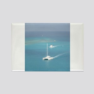 Boats on The Water Rectangle Magnet