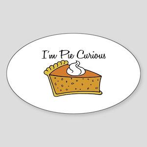 I'm Pie Curious Sticker (Oval)