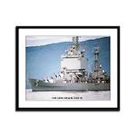 USS LONG BEACH Framed Panel Print