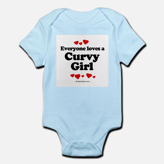 Everyone loves a Curvy Girl -  Infant Creeper