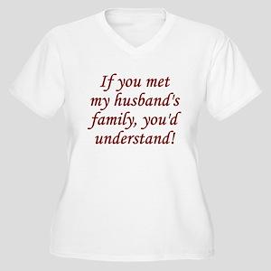 Met My Husband's Family Women's Plus Size V-Neck T