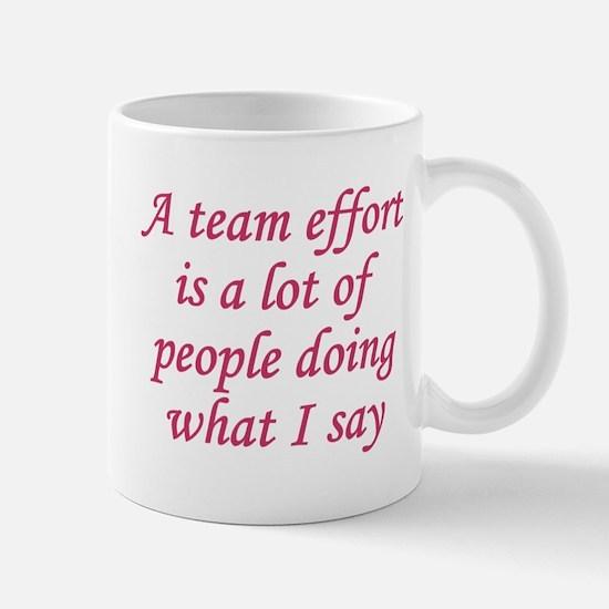 Team Effort Definition Mug