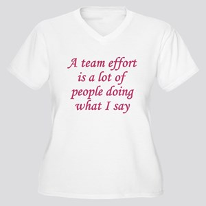 Team Effort Definition Women's Plus Size V-Neck T-