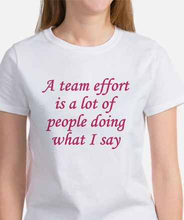 Team Effort Definition Women's T-Shirt
