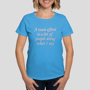 Team Effort Definition Women's Dark T-Shirt
