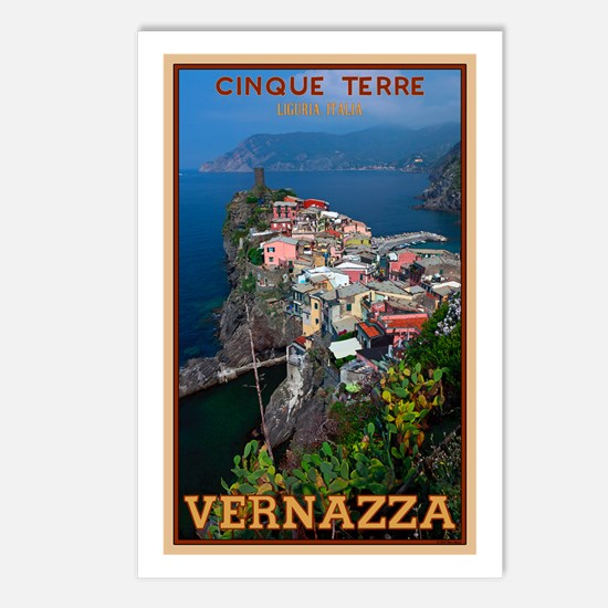 Vernazza from Above Postcards (Package of 8)
