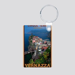 Vernazza from Above Aluminum Photo Keychain