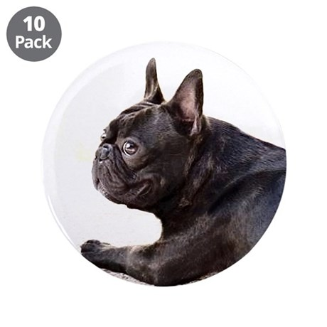 """French bulldog 3.5"""" Button (10 pack)"""