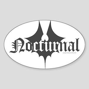Bat Splat Sticker (Oval)