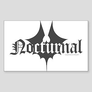 Bat Splat Sticker (Rectangle)