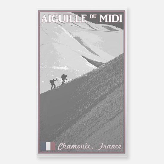 Aiguille du Midi Arete Sticker (Rectangle)