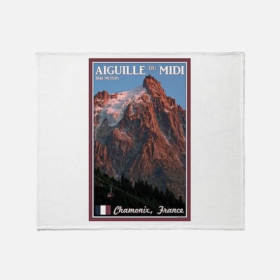 Aiguille du Midi Throw Blanket