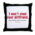Steal Your Girl Throw Pillow
