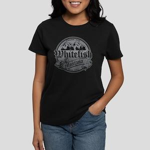 Whitefish Old Silver Women's Dark T-Shirt