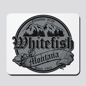 Whitefish Old Silver Mousepad