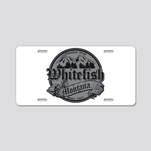 Whitefish Old Silver Aluminum License Plate