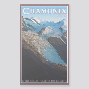 Glacier des Bossons Sticker (Rectangle)