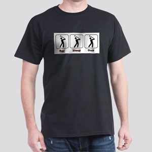 Eat Sleep Golf Dark T-Shirt