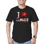 I heart Zombies Men's Fitted T-Shirt