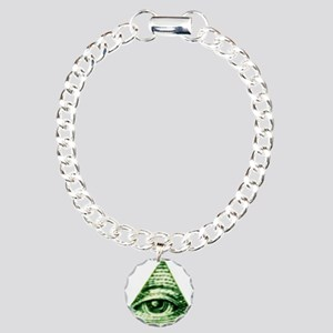 The Eye in the Sky Charm Bracelet, One Charm
