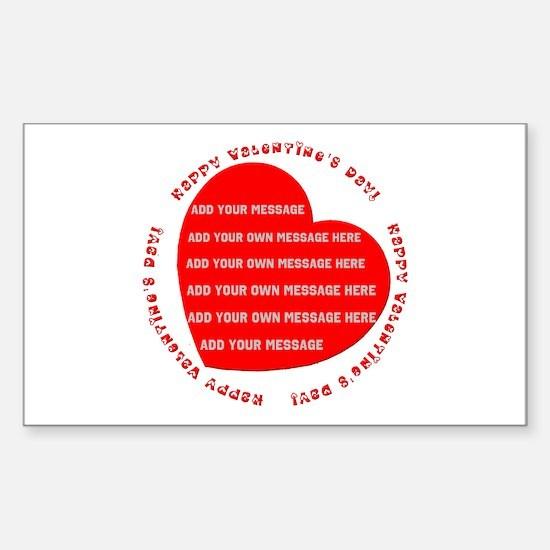 Happy Valentine's Day Sticker (Rectangle)