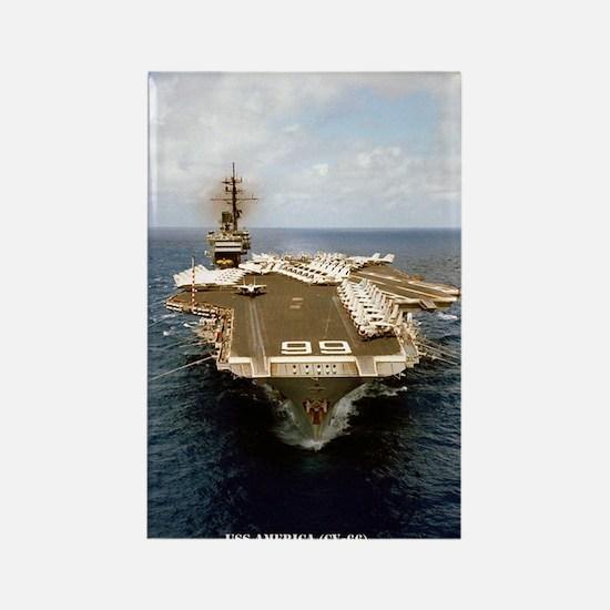 USS AMERICA Rectangle Magnet
